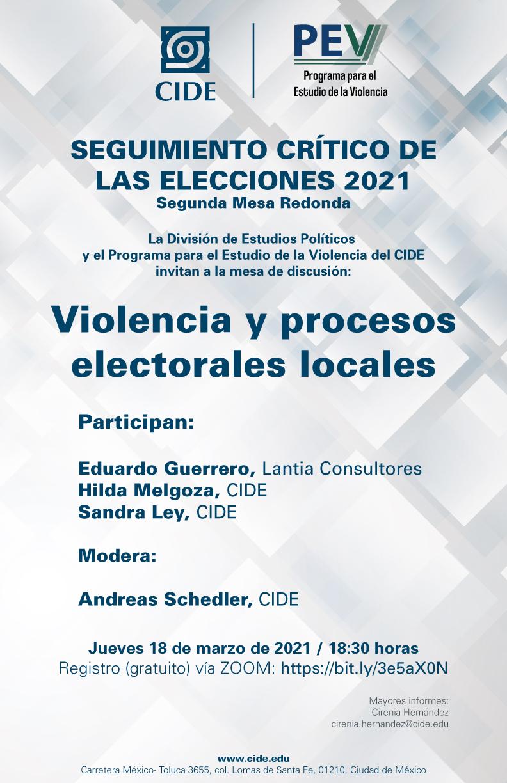SEGUIMIENTO CRÍTICO DE LAS ELECCIONES 2021: Violencia y procesos electorales locales