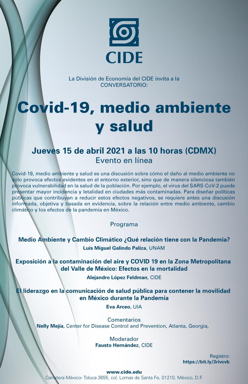 Conversatorio:  Covid-19, medio ambiente y salud.