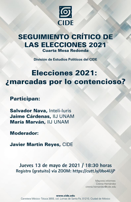 SEGUIMIENTO CRÍTICO DE LAS ELECCIONES 2021: Elecciones 2021:  ¿marcadas por lo contencioso?