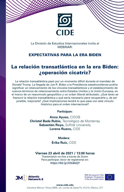 WEBINAR: La relación transatlántica en la era Biden: ¿operación cicatriz?