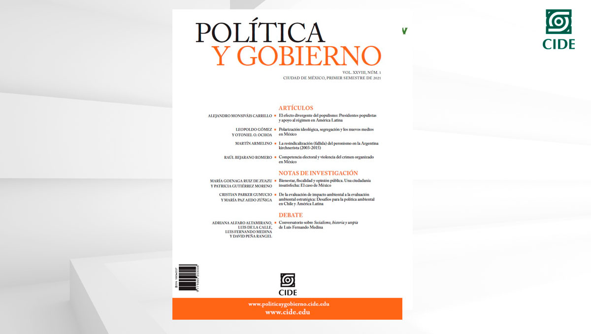 Revista <em>Política y Gobierno</em> obtiene buena posición en el ranking de SCImago