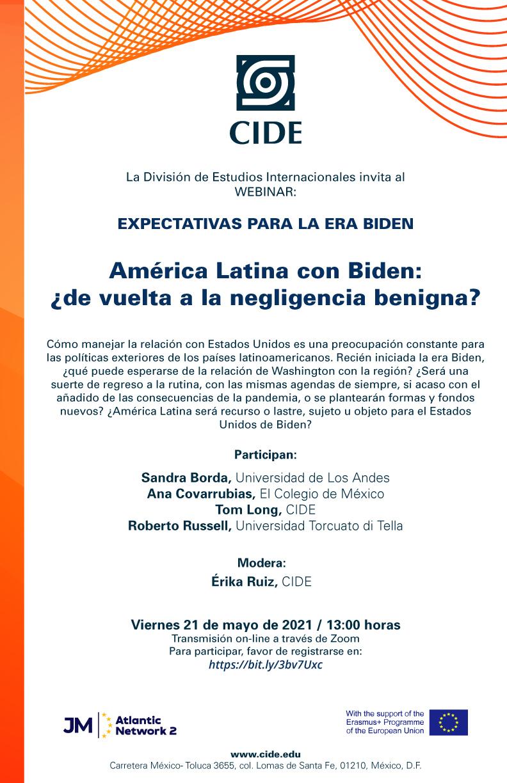 Webinar: América Latina con Biden: ¿de vuelta a la negligencia benigna?