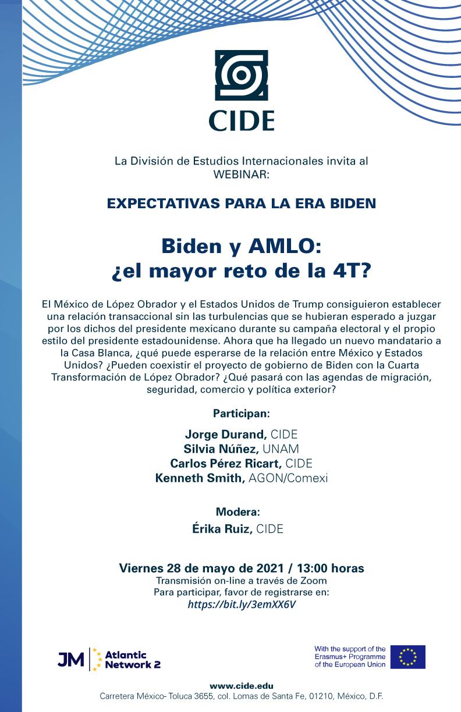 Webinar: Biden y AMLO: ¿el mayor reto de la 4T?
