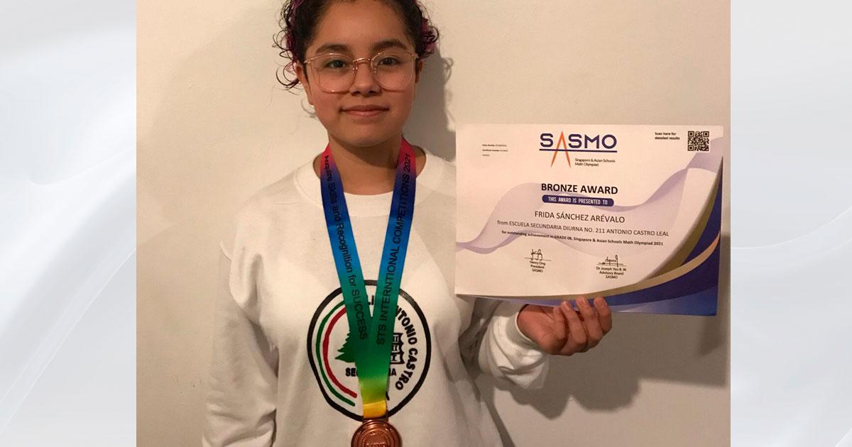 Estudiante de Inclusión Educativa CIDE obtiene bronce en SIMOC