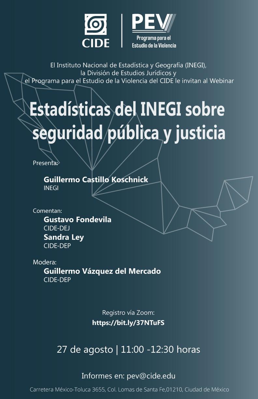 Webinar: Estadísticas del INEGI sobre  seguridad pública y justicia