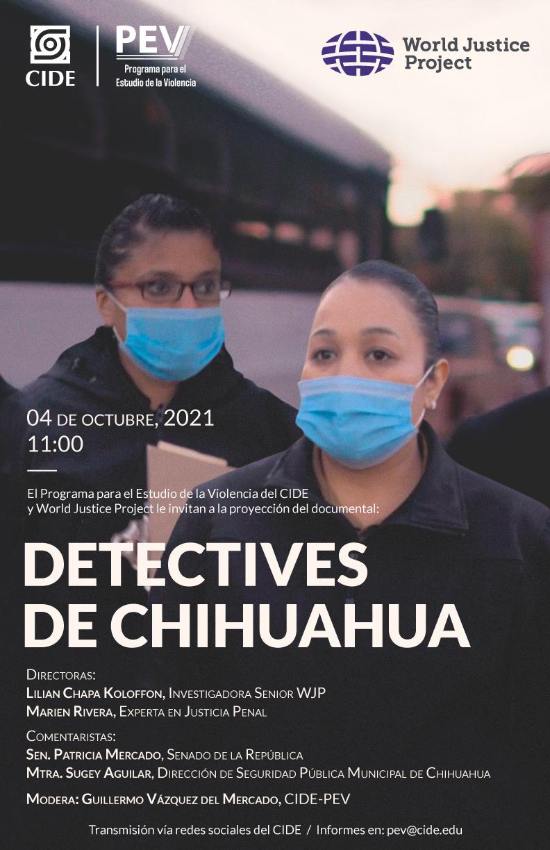Proyección del documental Detectives de Chihuahua