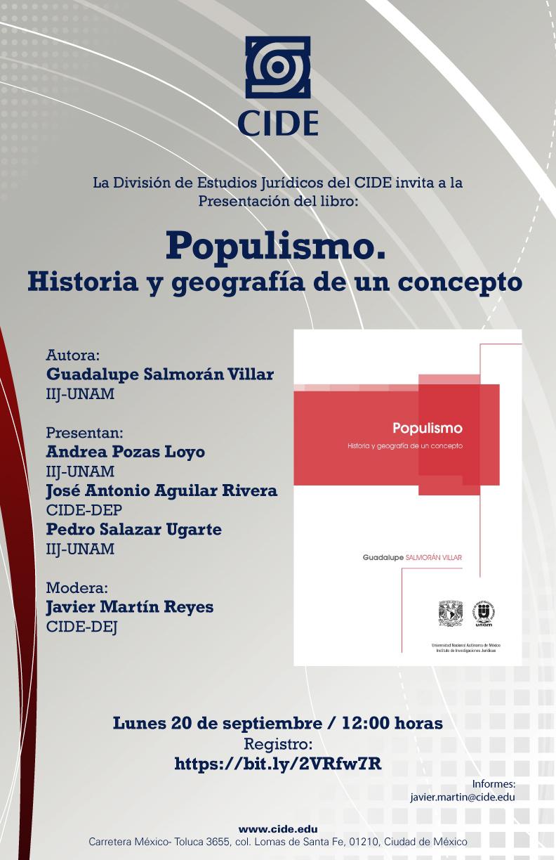Presentación del libro: Populismo. Historia y geografía de un concepto