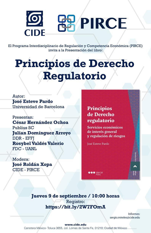 Presentación del libro: Principios de Derecho Regulatorio