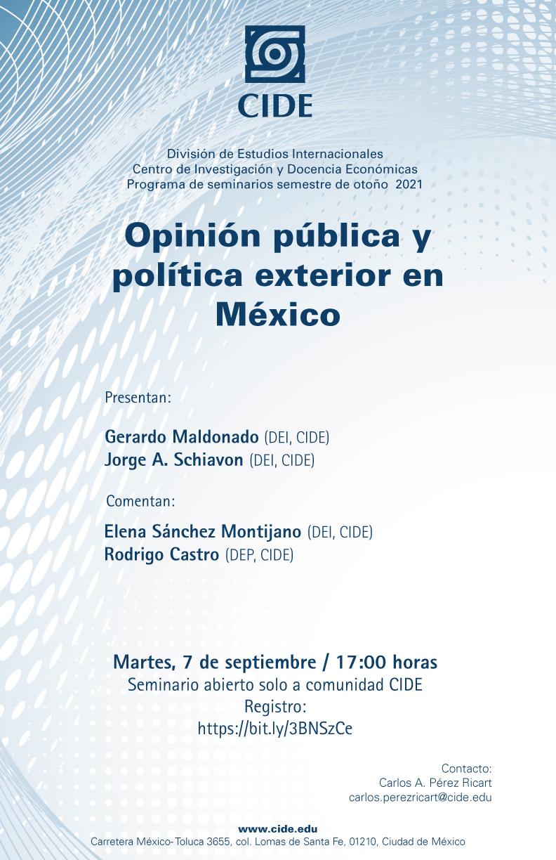 Seminario: Opinión pública y política exterior en México