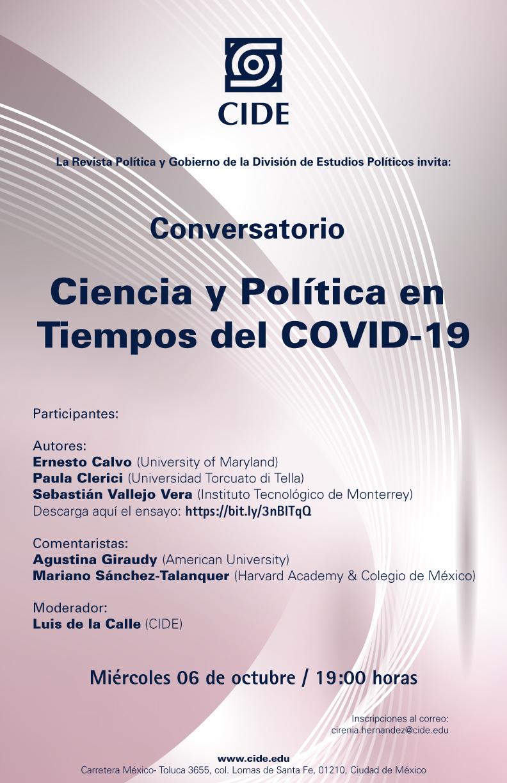 Conversatorio: Ciencia y Política en Tiempos del COVID-19